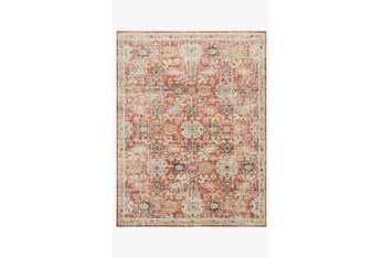 """7'8""""x10' Rug-Magnolia Home Graham Persimmon/Multi By Joanna Gaines"""