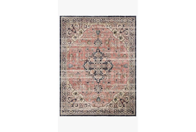 """2'3""""x4' Rug-Magnolia Home Graham Coral/Navy By Joanna Gaines - 360"""