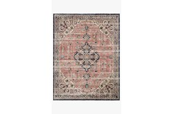 27X90 Rug-Magnolia Home Graham Coral/Navy By Joanna Gaines