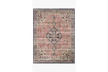 "2'3""x7'5"" Rug-Magnolia Home Graham Coral/Navy By Joanna Gaines"