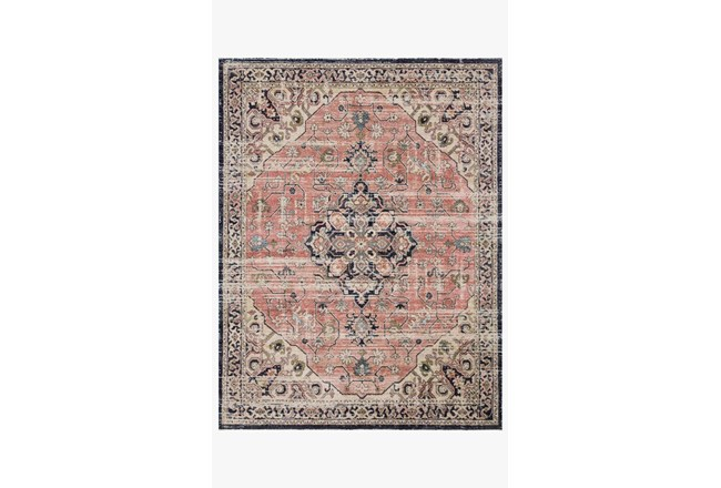 27X90 Rug-Magnolia Home Graham Coral/Navy By Joanna Gaines - 360