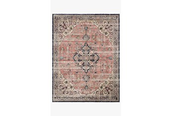 """2'3""""x10' Rug-Magnolia Home Graham Coral/Navy By Joanna Gaines"""