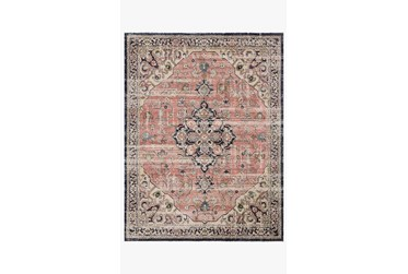 """2'3""""x12' Rug-Magnolia Home Graham Coral/Navy By Joanna Gaines"""