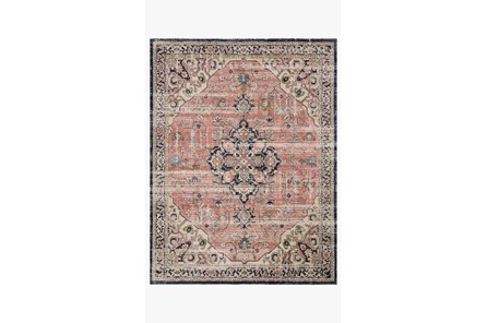 27X144 Rug-Magnolia Home Graham Coral/Navy By Joanna Gaines