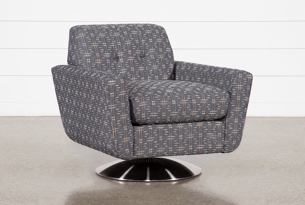 Chill III Swivel Accent Chair With Metal Base