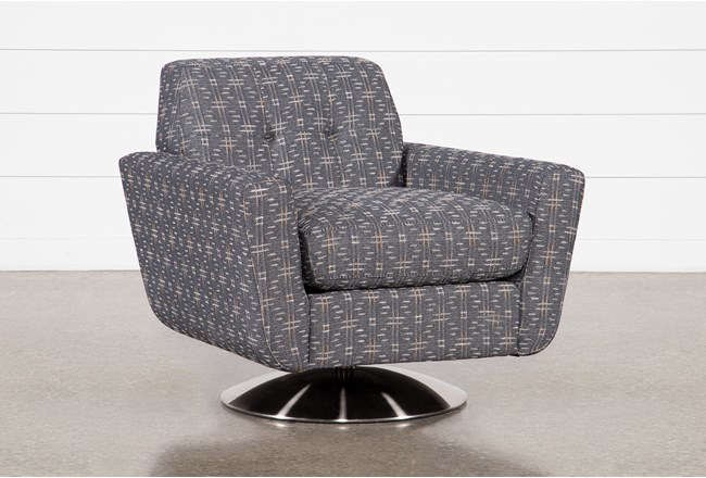 Chill III Swivel Accent Chair With Metal Base - 360