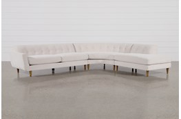 "Chill III 3 Piece 134"" Sectional With Right Facing Bumper Chaise"