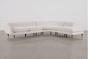 """Chill III 3 Piece 134"""" Sectional With Right Facing Bumper Chaise"""