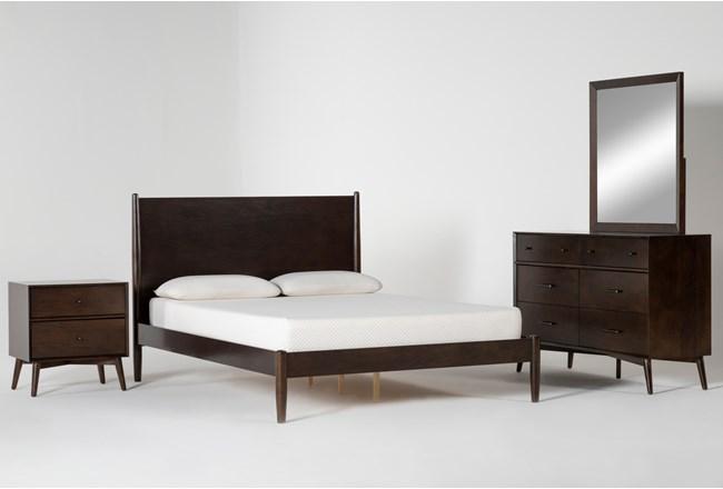 Alton Umber Queen 4 Piece Bedroom Set - 360