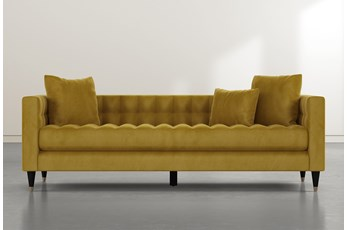 Tate III Gold Velvet Estate Sofa