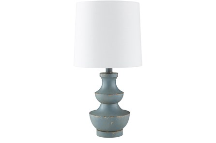 Table Lamp-Simone Tiered Sky Blue