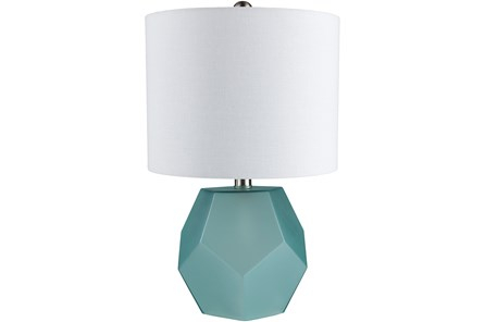 Table Lamp-Geo Sky Blue