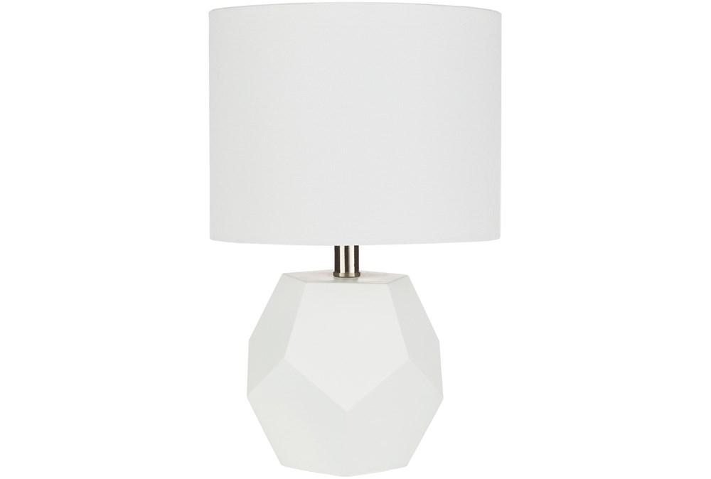 Table Lamp-Geo Sky White