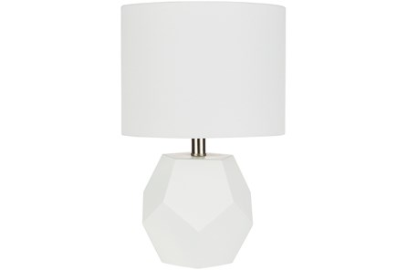 Table Lamp-Geo Sky White