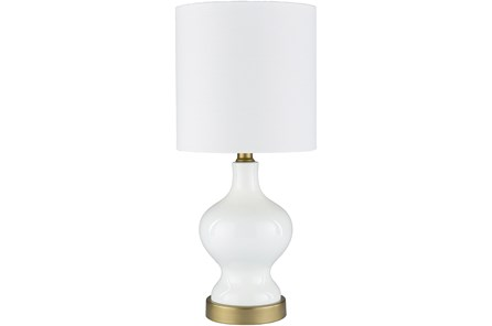 Table Lamp- Lacquered White