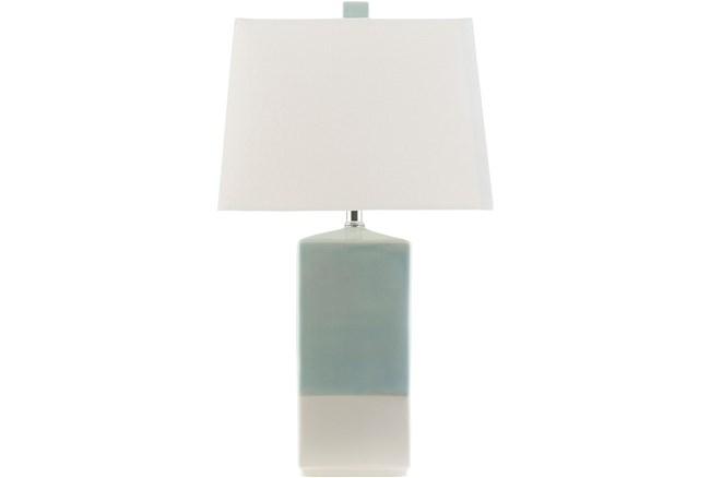 Table Lamp-Zele Aqua And Cream - 360