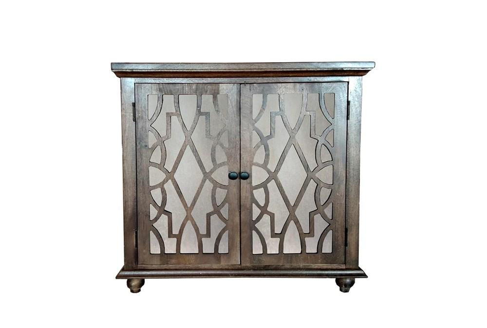 Dark Brown Mango Wood 2 Door Cabinet