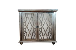 Dark Brown Mango Wood 2 Door Cabinet