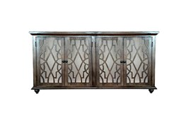 Dark Brown Mango Wood 4 Door Sideboard