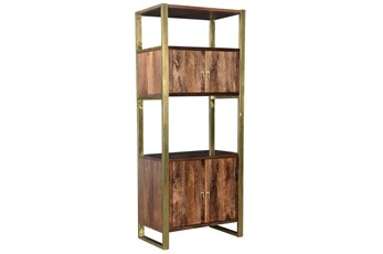 Brown Mango Wood Tall Cabinet