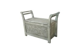 Hand Carved Entry Way Bench Small