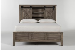 Haskell Queen Panel Bed With USB
