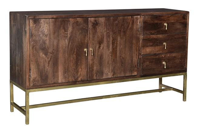 "Dark Brown 2 Door 3 Drawer 67"" Sideboard  - 360"