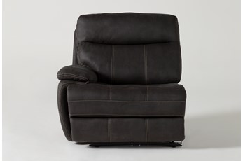 Denali II Charcoal Left Arm Facing Power Recliner With Power Headrest & Usb