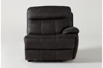 Denali II Charcoal Right Arm Facing Power Recliner With Power Headrest & Usb