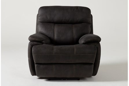 Denali II Charcoal Power Recliner With Power Headrest & Usb