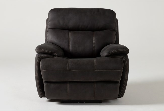 Denali II Charcoal Power Recliner With Power Headrest & Usb - 360