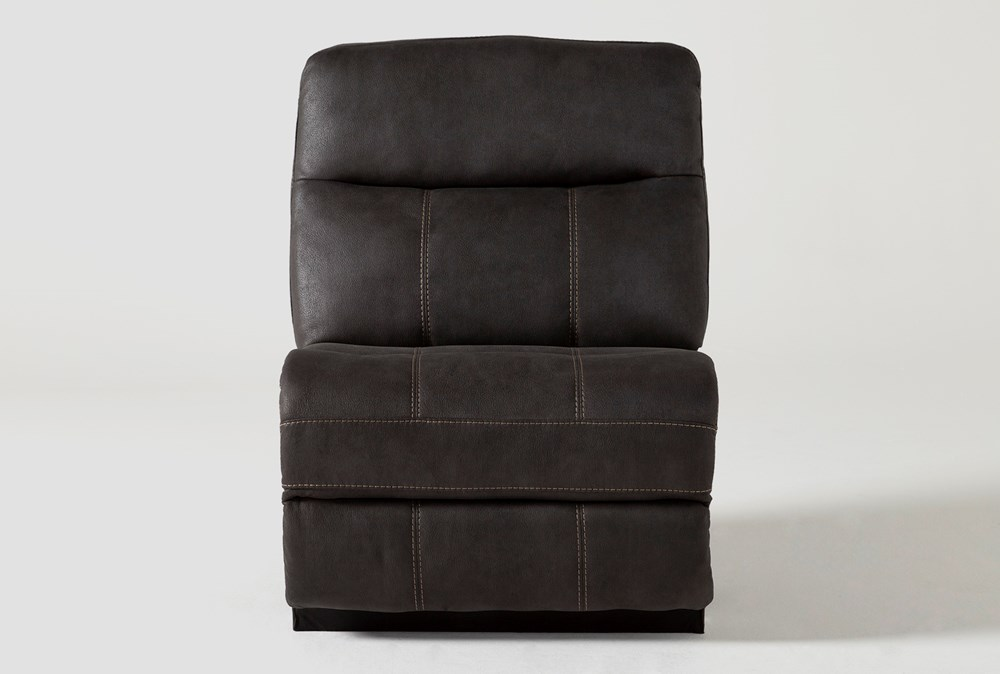 Denali II Charcoal Armless Chair