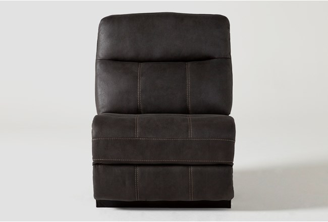 Denali II Charcoal Armless Chair - 360