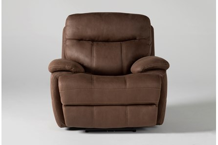 Denali II Brown Power Recliner With Power Headrest & Usb