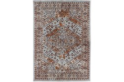 63X91 Rug-Reina Antique Blue/Orange
