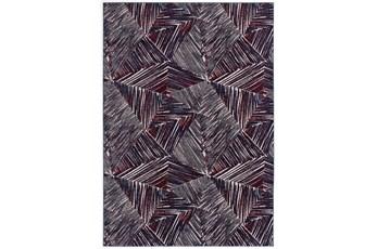 63X91 Rug-Storm Abstract Red/Royal