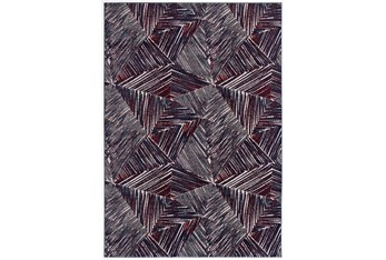"""5'3""""x7'6"""" Rug-Storm Abstract Red/Royal"""