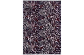 94X126 Rug-Storm Abstract Red/Royal