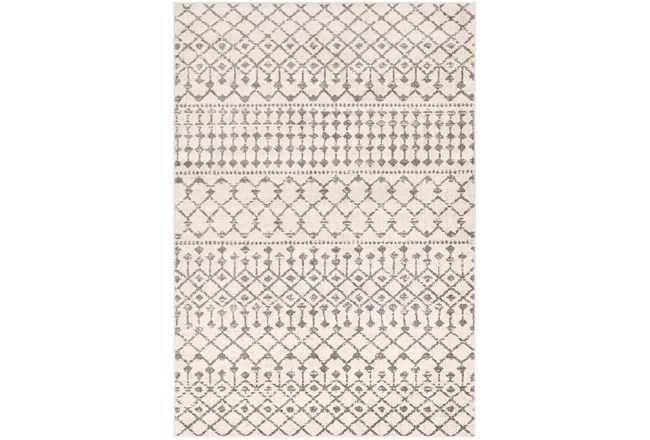"6'6""x9' Rug-Dot Geometric Grey - 360"