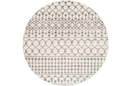 "7'9"" Round Rug-Dot Geometric Grey"