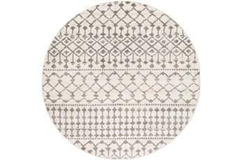 "7'9"" Round Rug-Dot Geometric Grey"