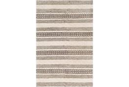 2'x3' Rug-Textural Stripe Grey/Ivory