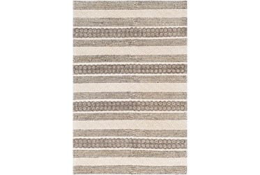 6'x9' Rug-Textural Stripe Grey/Ivory