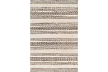 8'x10' Rug-Textural Stripe Grey/Ivory