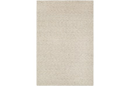 96X120 Rug-Willa Undyed Wool Cream