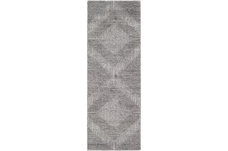 31X87 Rug-Exam Diamond Black