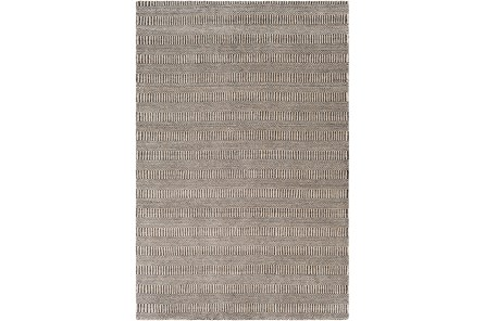 96X120 Rug-Cruz Stripe Charcoal/Beige