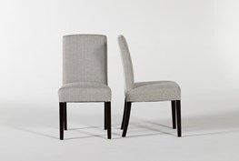 Garten Salt And Pepper Dining Side Chairs With Espresso Finish Set Of 2