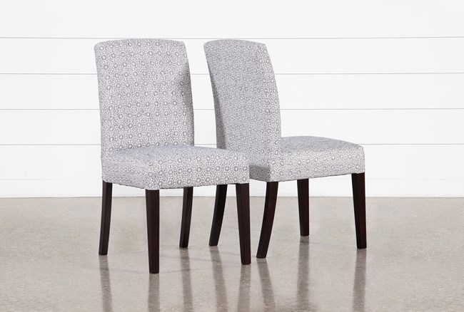 Garten Denim Dining Side Chairs With Espresso Finish Set Of 2 - 360
