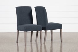 Garten Cobalt Dining Side Chairs With Greywash Finish Set Of 2